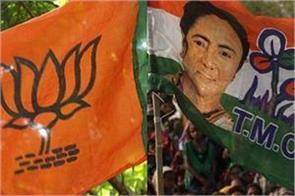 protests between tmc and bjp inauguration of durga pandals in bengal