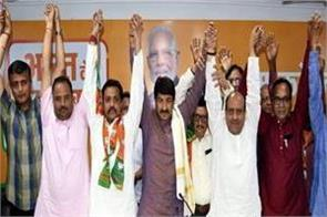 president of aap s delhi jj cell along with colleagues joined bjp