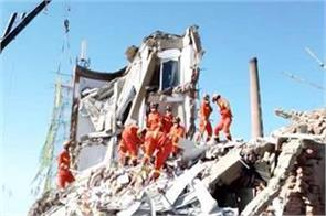 five dead four injured after china bank building collapses