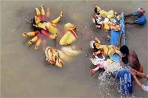 those who immerse idols in ganga and its tributaries will be fined rs 50 000