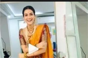 kriti sanon share her dance video on internet