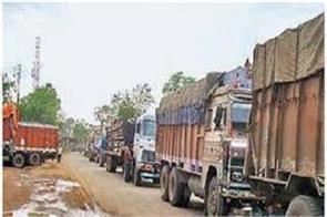 heavy vehicles entering city police exit
