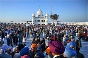 pilgrims grow at kartarpur sunday to see 1 800 visitors