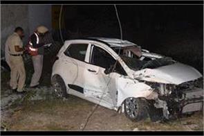 high speed car collided with pole near khuda lahora bridge one killed