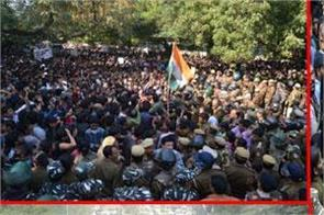 jnu march parliament protest