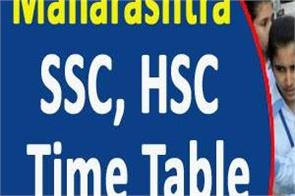 maharashtra ssc hsc 2020 final time table released check soon