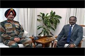 general ranbir singh calls lt governor murmu informs j k security situation