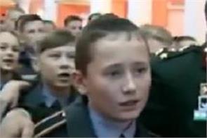 russian military cadets sing ae watan humko teri kasam