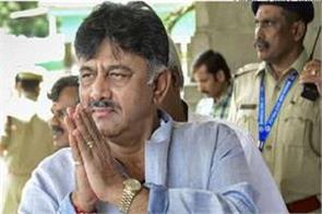 dk shivakumar blood pressure increased hospitalized