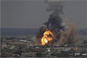 israel targets hamas bases in gaza