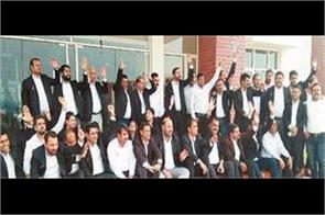 lawyers continue to protest in samba district court complex rain