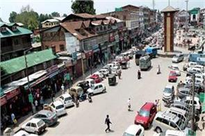 life coming back track srinagar vehicles running on roads markets open