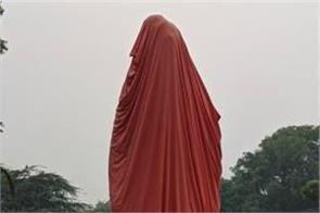 delhi swami vivekananda statue broken in jnu