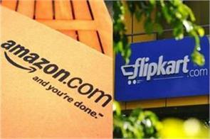 protesters across the country demand a ban on amazon flipkart