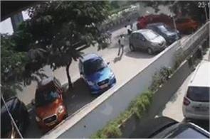 a car fell from a flyover one died see how the chaos in the video