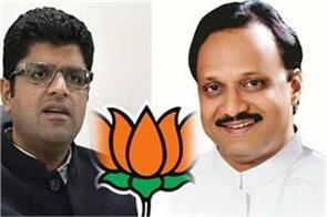 governments formed due to nephews in haryana maharashtra