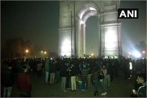 students activists and professionals protest against caa at india gate