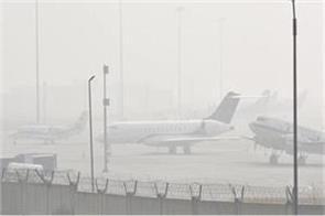 delhi minimum temperature was 6 4 degrees dense fog affected flights