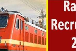 railway recruitment 2019 for 8th and 10th pass apply soon