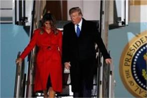 trump touches down in uk ahead of nato summit