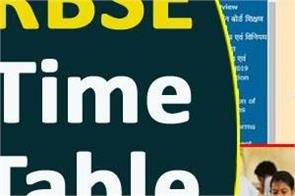 rbse 2019 12th exam datesheet released check with direct link