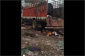 fire in truck parked outside maloya police sttion