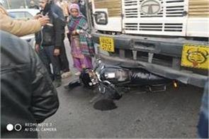 bike rider pulled truck death