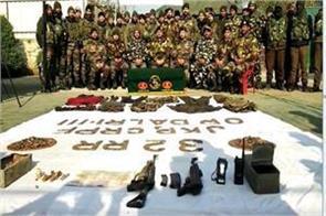 big rock valley failed terrorist destroyed baramulla ammunition recovered