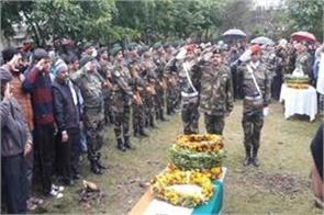 jammu and kashmir soldier martyred sudan cremated military honors