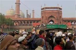 delhi protest against caa again outside jama masjid