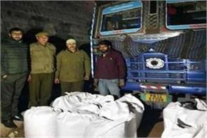 two smugglers arrested udhampur 717 kg starved recovered