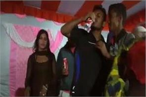 video of indecent dance with alcohol in shraddha karma goes viral