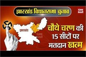 voting end on 15 seats in the fourth phase