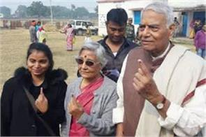 union minister votes before hazaribagh seat