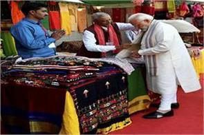 pm modi s shopping in gujarat festival