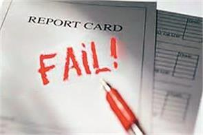 fail is written on every page of the report card