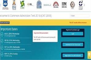 iim cat 2018 results released today
