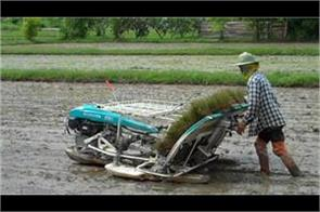 government provide 40 50 percent subsidy on paddy transplanting machine