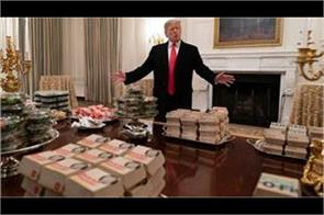 trump orders  300 burgers  to white house amid shutdown