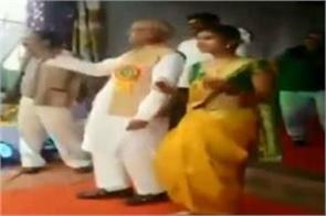 ncp mp danced with girls students in school