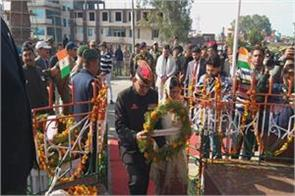 tribute paid to martyr captain sunil showdhary
