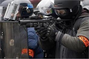 french  flash ball  row over riot gun injuries
