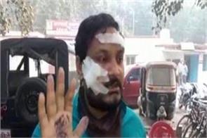sp leader to meet worker in varanasi jail shots fired