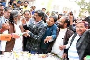 jharkhand s former cm shibu soren  75th birthday cm raghubar congratulated