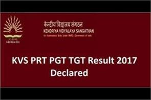 kvs prt tgt results