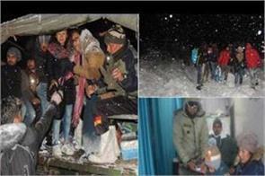 sikkim snow army tourist