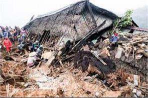 landslide in indonesia 15 killed and dozen missing