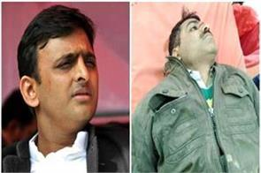 when akhilesh on seeing the injured on the middle road