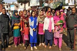 kathua people protest for water