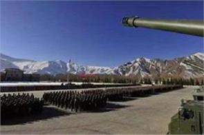chinese troops at india tibet border equipped with mobile howitzers